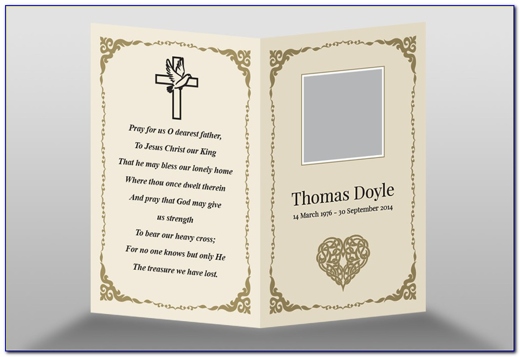Memorial Cards For Funeral Template Free  vincegray11 Intended For Remembrance Cards Template Free Within Remembrance Cards Template Free