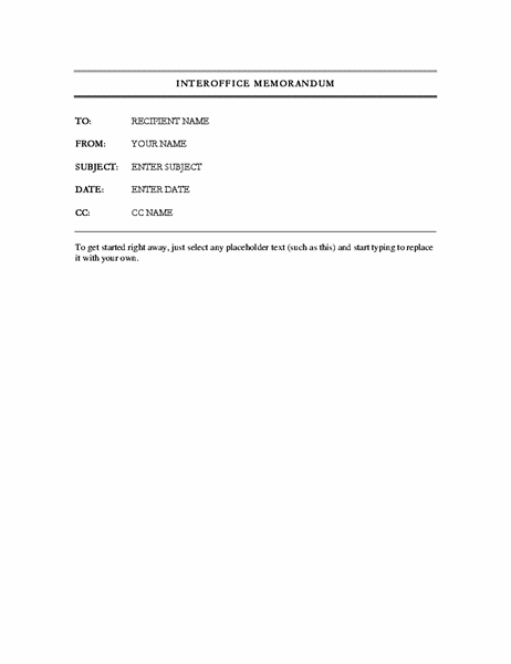 Memos - Office Within Memo Template Word 2013