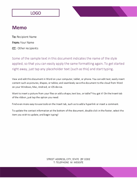 Memos - Office With Memo Template Word 2013