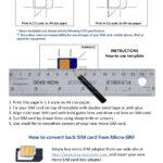 Micro sim template Inside Sim Card Cutter Template