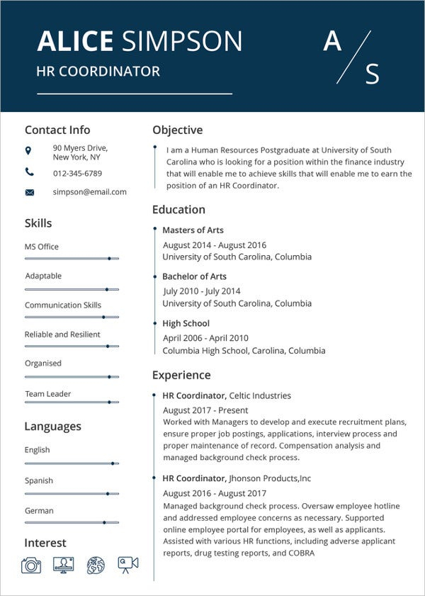 Microsoft Word Resume Template - 11+ Free Samples, Examples  With Regard To Free Basic Resume Templates Microsoft Word With Free Basic Resume Templates Microsoft Word