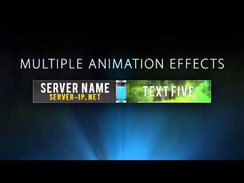"Minecraft Server Banner Template (GIF) - ""Upsurge"" Intended For Minecraft Server Banner Template Within Minecraft Server Banner Template"