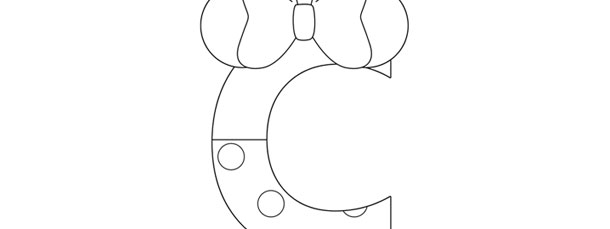 Minnie Mouse Style Letter C Template – Large Within Large Letter C Template With Large Letter C Template