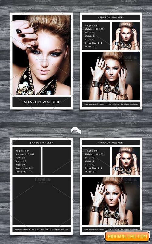 Model Comp Card Template 11 Free Download  Free Graphic  Within Free Model Comp Card Template Psd Regarding Free Model Comp Card Template Psd