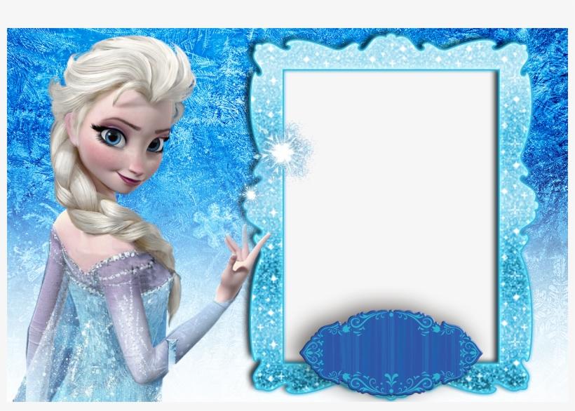 Molduras Frozen - Printable Frozen Themed Birthday Invitation PNG  Throughout Frozen Birthday Card Template