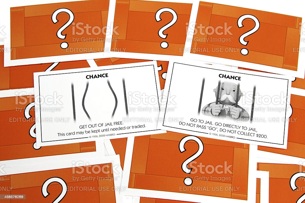 Monopoly Chance Cards Stock Photo - Download Image Now In Monopoly Chance Cards Template With Regard To Monopoly Chance Cards Template