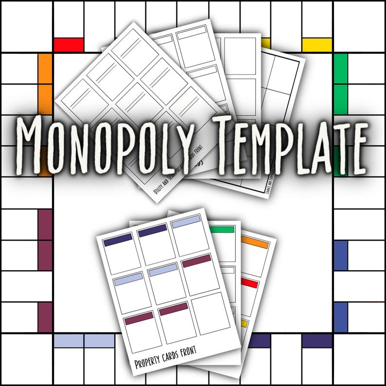 Monopoly Game Card Template (Page 11) - Line.11QQ With Regard To Monopoly Property Card Template