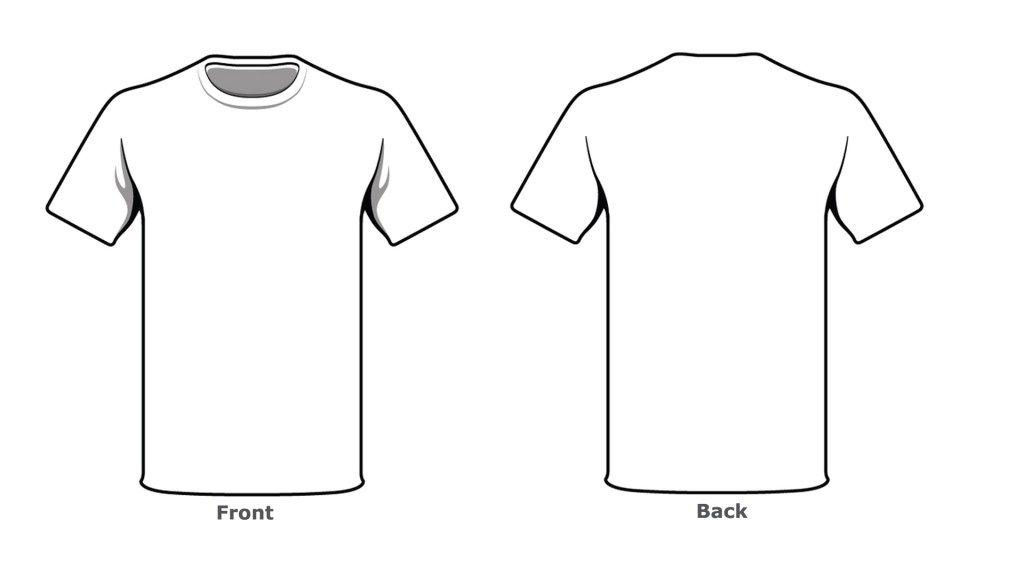 Motivirati suknja razlika back blank t shirt example Intended For Printable Blank Tshirt Template Regarding Printable Blank Tshirt Template