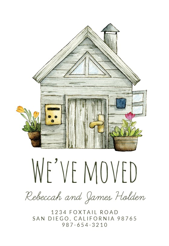 Moving Announcement Templates (Free)  Greetings Island Regarding Free Moving House Cards Templates Intended For Free Moving House Cards Templates