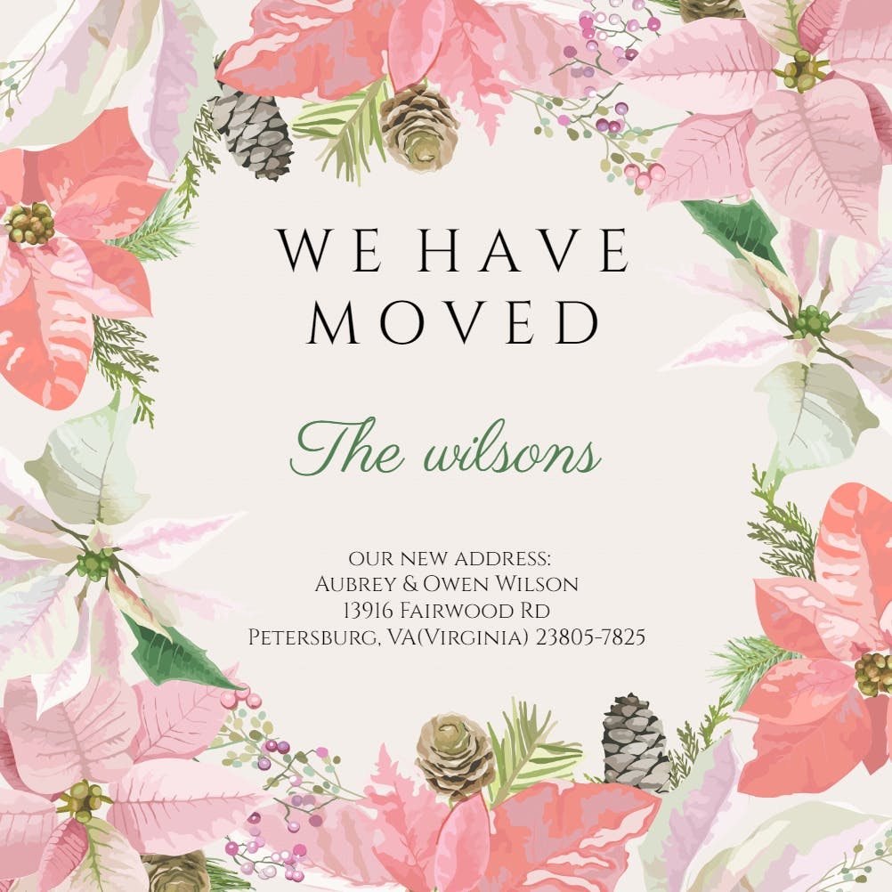 Moving Announcement Templates (Free)  Greetings Island Regarding Free Moving House Cards Templates Inside Free Moving House Cards Templates