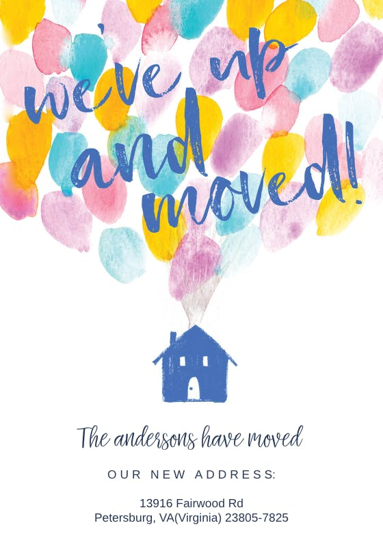 Moving Announcement Templates (Free)  Greetings Island Throughout Free Moving House Cards Templates Intended For Free Moving House Cards Templates