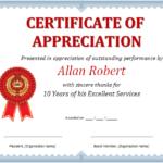 MS Word Certificate of Appreciation  Office Templates Online In In Appreciation Certificate Templates