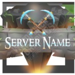 """New Minecraft Server Logo - """"The Mine"""" – Woodpunchs Graphics Shop In Minecraft Server Banner Template"""