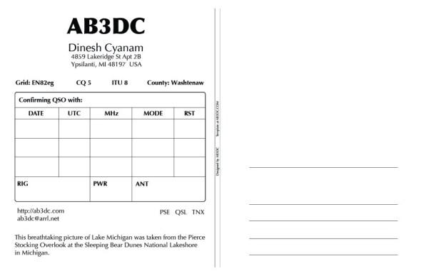 New QSL Cards Design – AB11DC