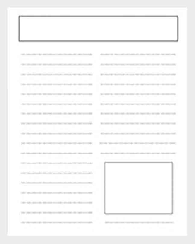 Newspaper Article Template For Students  PDF Template Intended For Blank Newspaper Template For Word