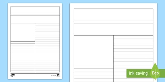 Newspaper Template Inside Blank Newspaper Template For Word In Blank Newspaper Template For Word