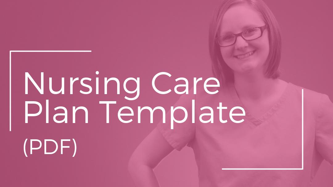 Nursing Care Plan Template (PDF) - Nursing School of Success Within Nursing Care Plan Templates Blank Throughout Nursing Care Plan Templates Blank