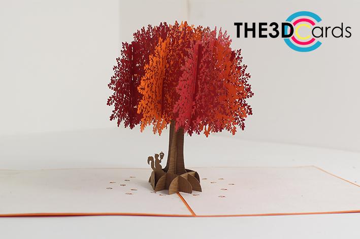 Oak tree pop up card, 11D card - THE11DCARDS In Pop Up Tree Card Template Inside Pop Up Tree Card Template