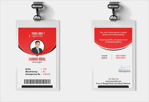 Office Employee Pvc Id Card In Pvc Id Card Template Regarding Pvc Id Card Template