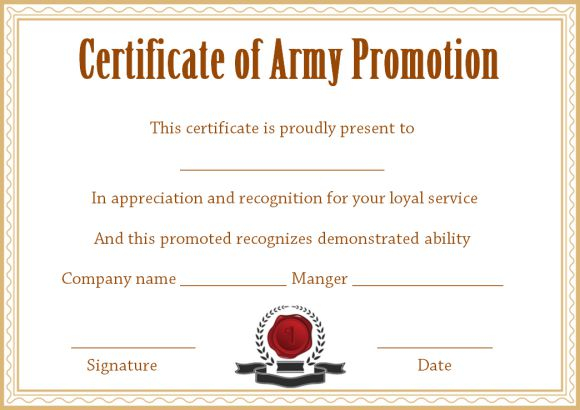 Officer Promotion Certificate Template - Template Sumo Intended For Promotion Certificate Template Inside Promotion Certificate Template