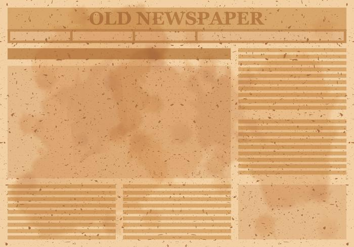 Old Newspaper Layout Vector - Download Free Vectors, Clipart  Intended For Blank Old Newspaper Template Intended For Blank Old Newspaper Template