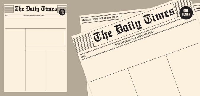 Old Newspaper Template – PAPERZIP With Blank Old Newspaper Template With Regard To Blank Old Newspaper Template