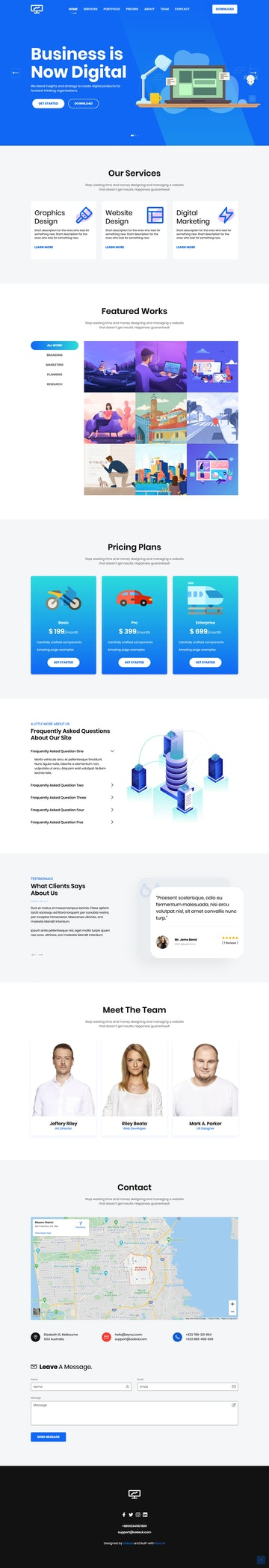 One Page HTML Templates Intended For Html Report Template Download Throughout Html Report Template Download