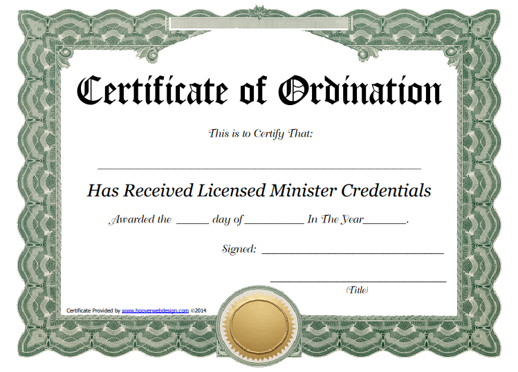 Ordination Certificate Template: 11+ Unique and Free Downloadable  Pertaining To Certificate Of Ordination Template Pertaining To Certificate Of Ordination Template