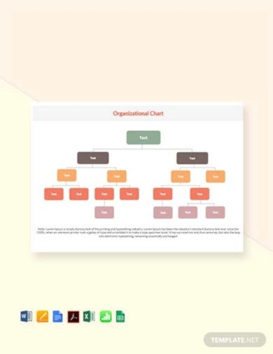 Organizational Chart Template - 11+ Free Word, Excel, PDF Format  Within Word Org Chart Template Intended For Word Org Chart Template