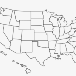 Outline Of The United States - Blank Us Map High Resolution  Regarding Blank Template Of The United States