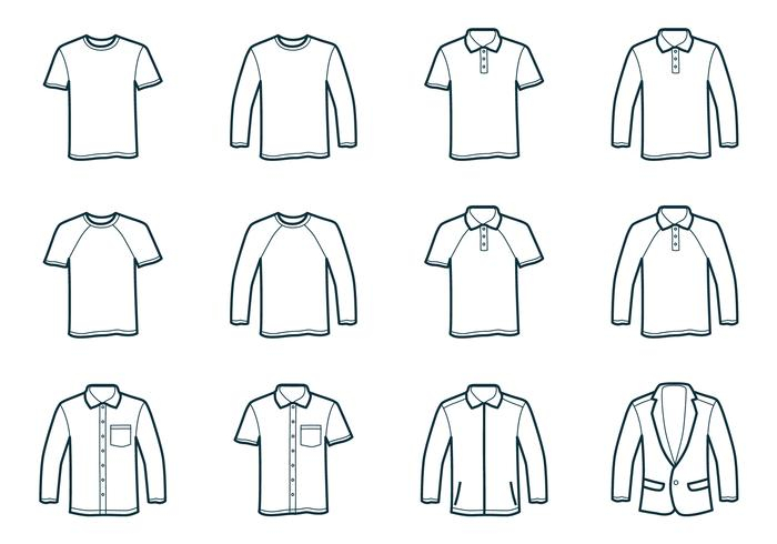 Outline T-Shirt Template - Download Free Vectors, Clipart Graphics  With Blank T Shirt Outline Template Pertaining To Blank T Shirt Outline Template
