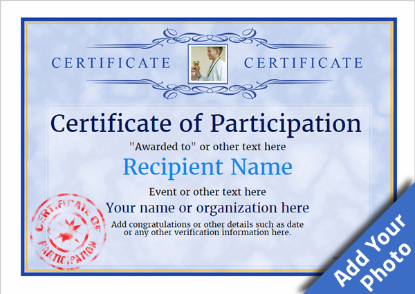 Participation Certificate Templates - Free, Printable, Add badges  Throughout Participation Certificate Templates Free Download In Participation Certificate Templates Free Download