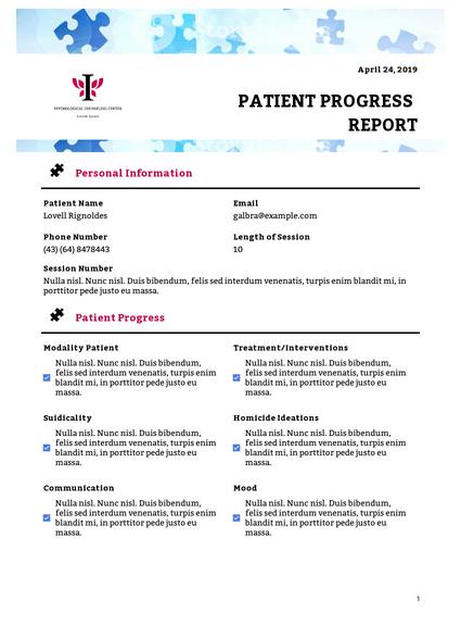 Patient Progress Report Template - PDF Templates  JotForm With Regard To Patient Care Report Template Inside Patient Care Report Template