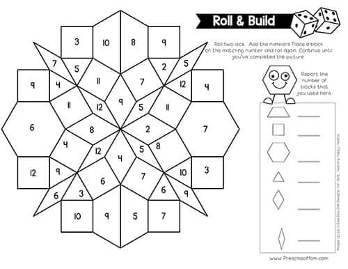 Pattern Block Pictures - Preschool Mom Regarding Blank Pattern Block Templates Inside Blank Pattern Block Templates