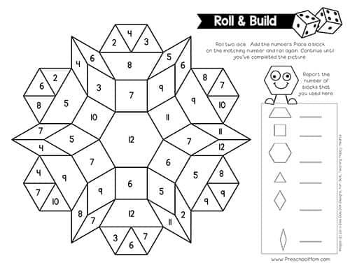 Pattern Block Pictures - Preschool Mom Throughout Blank Pattern Block Templates Throughout Blank Pattern Block Templates