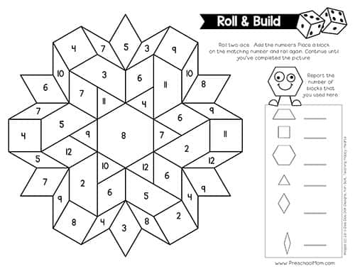 Pattern Block Pictures - Preschool Mom Within Blank Pattern Block Templates Within Blank Pattern Block Templates