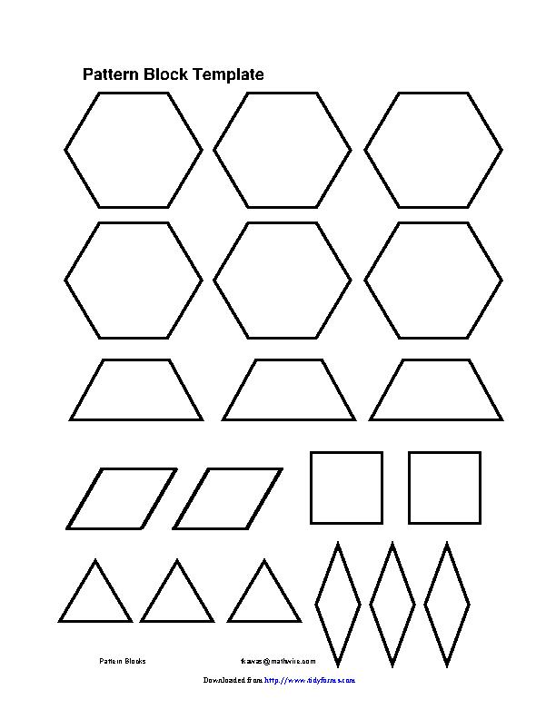 Pattern Block Template 11 - PDFSimpli Regarding Blank Pattern Block Templates Throughout Blank Pattern Block Templates