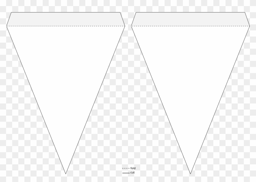 Pennant Banner Template - Triangle Flag Banner Template - Free  Pertaining To Triangle Pennant Banner Template With Triangle Pennant Banner Template