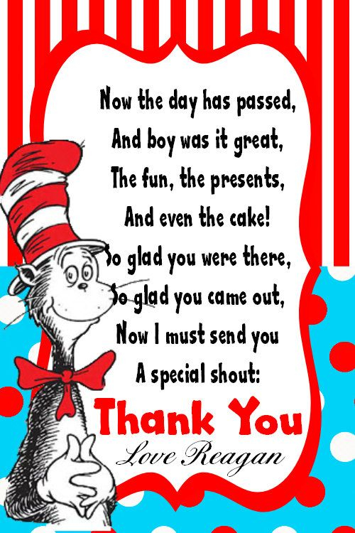 Perfect! Thank you cards all ready to go!  Dr seuss baby shower  Throughout Dr Seuss Birthday Card Template Throughout Dr Seuss Birthday Card Template