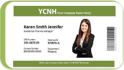 Photo ID Badge Word Templates  Word & Excel Templates In Employee Card Template Word Regarding Employee Card Template Word