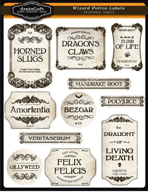 Pin by Kristine Karanikitas on Halloween labels and templates  With Regard To Harry Potter Potion Labels Templates Regarding Harry Potter Potion Labels Templates