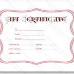Pink frame gift certificate template - Certificate Templates With Regard To Pink Gift Certificate Template