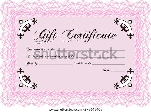Pink Gift Certificate Template Stock Vector (Royalty Free) 11 Regarding Pink Gift Certificate Template Regarding Pink Gift Certificate Template