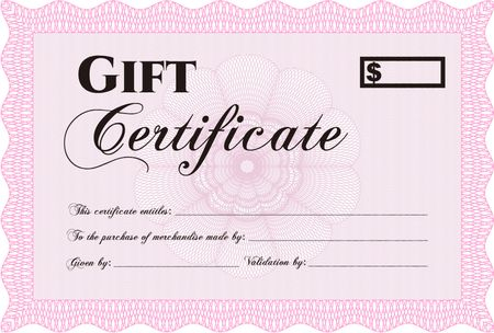 Pink horizontal gift certificate template  Freestock vectors Regarding Pink Gift Certificate Template In Pink Gift Certificate Template