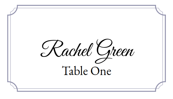Place Card Me - A Free and Easy Printable Place Card Maker for  Intended For Free Printable Tent Card Template For Free Printable Tent Card Template