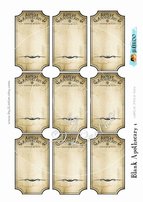 Potion Label Template (Page 11) - Line.11QQ Within Harry Potter Potion Labels Templates