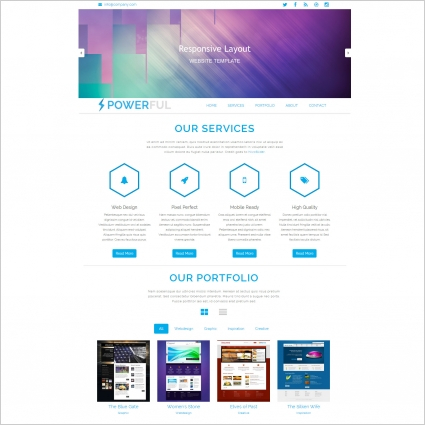 Powerful bootstrap template Free website templates in css, html  Intended For Blank Html Templates Free Download In Blank Html Templates Free Download
