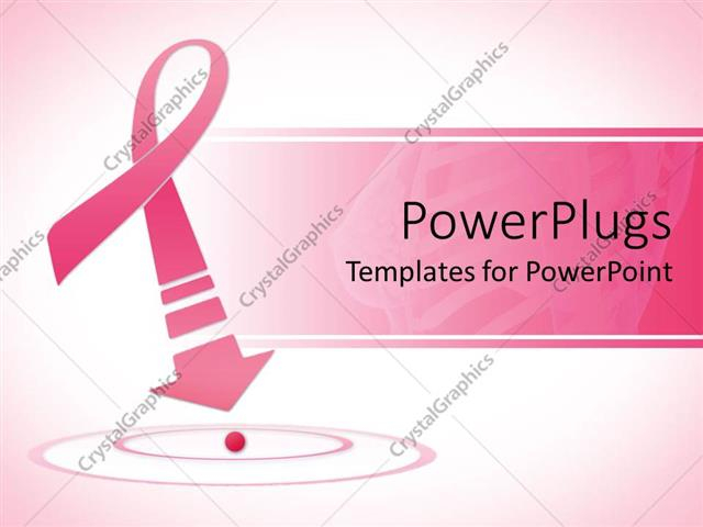 PowerPoint Template: Breast cancer awareness pink ribbon with  In Breast Cancer Powerpoint Template Within Breast Cancer Powerpoint Template