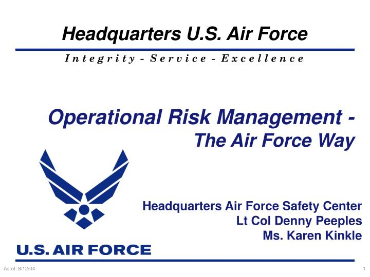 PPT - Operational Risk Management - The Air Force Way PowerPoint  Inside Air Force Powerpoint Template With Air Force Powerpoint Template