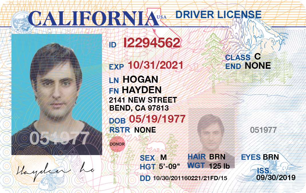 Premium Documents PSD Templates: California Drivers License  Pertaining To Blank Drivers License Template In Blank Drivers License Template